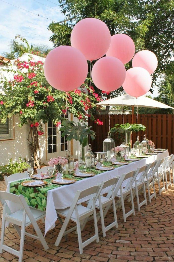 Deko gartenparty hochzeit  gartenparty schöne festtafel mit ballons für die hochzeit | Wedding ...