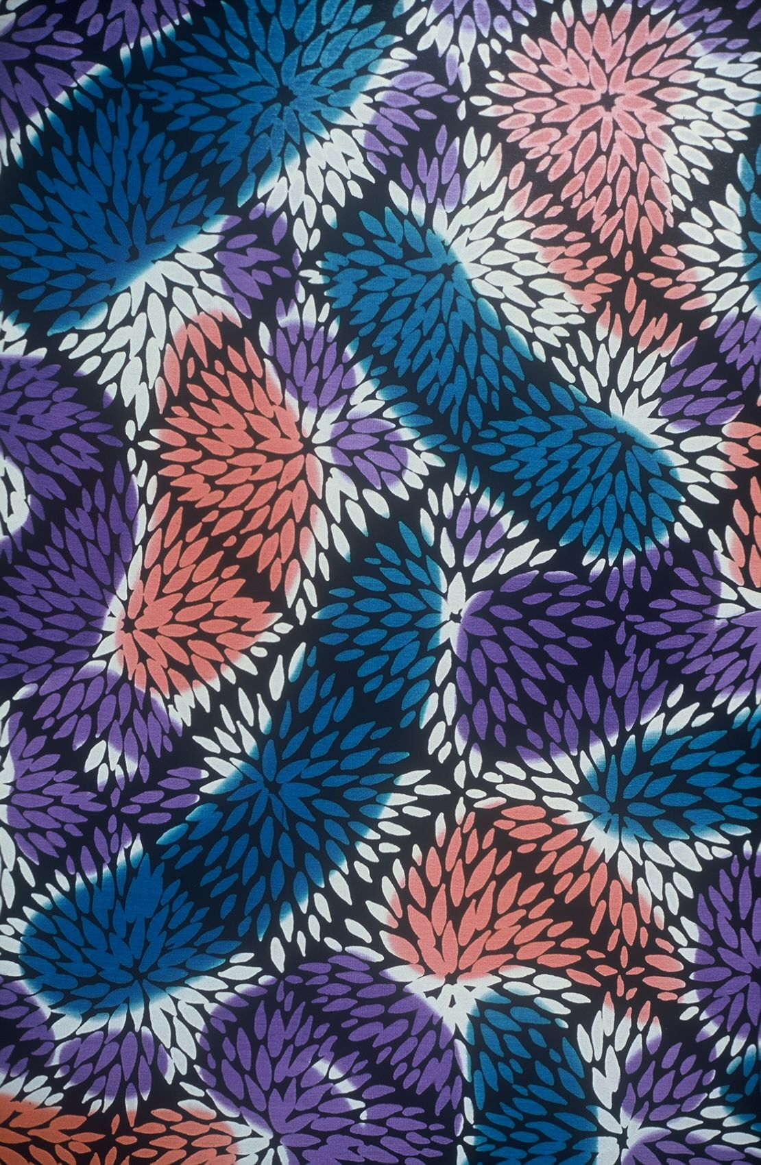 glmorrissilks.com surface pattern painted on silk used in the swimwear industry.