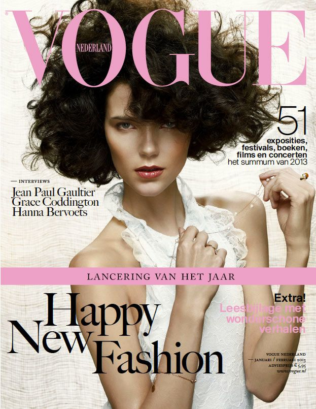 Agnes Nabuurs Graces the January/February 2013 Cover of Vogue Netherlands
