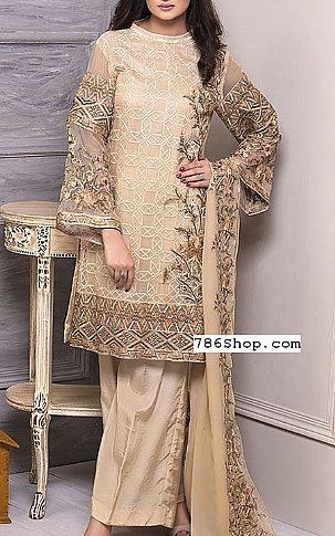 74d75bbb0c Light Golden Crinkle Chiffon Suit | Buy Motifz Pakistani Dresses and  Clothing online in USA, UK