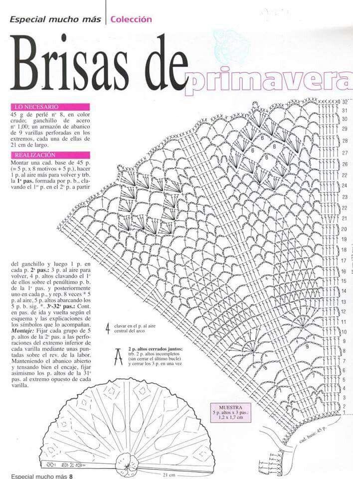 Crochet | abanicos | Pinterest | Ganchillo, Tejido y Puntadas
