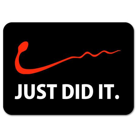 Nike just do it funny car bumper sticker 5