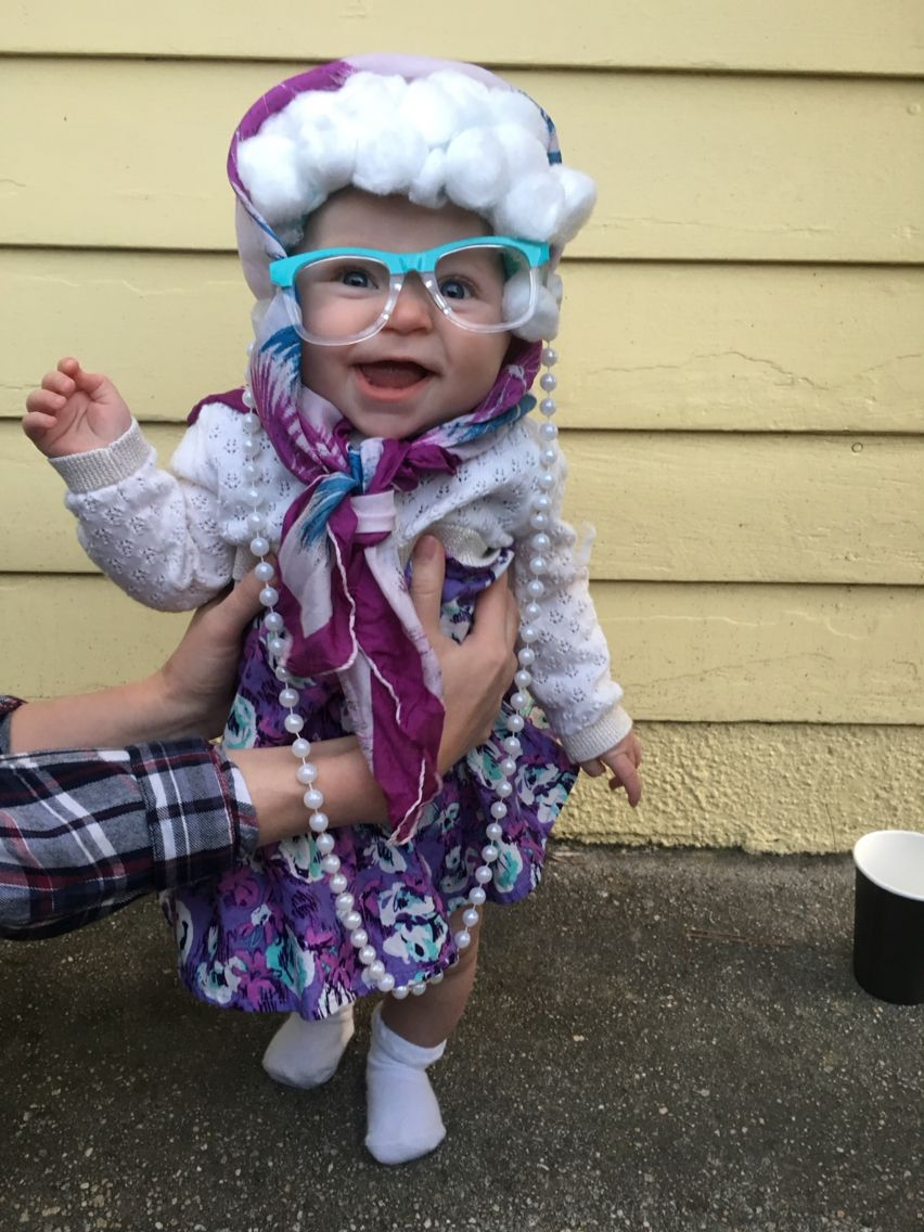 diy funny old lady infant baby girl costume best #babygirl