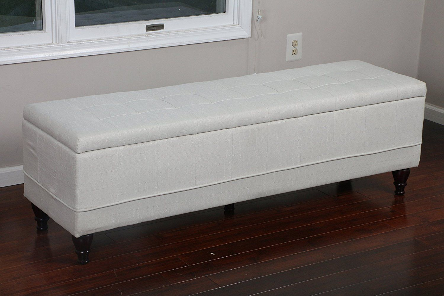 "Extra Long Storage Bench Home Life 75"" X 17"" Extra Long Front Of Bed Storage Lift Top Bench"