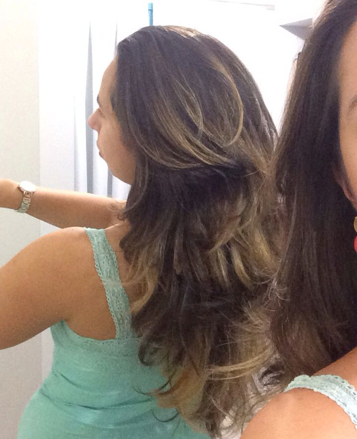Ombré hair done right! Love it! Brunette ombré hair