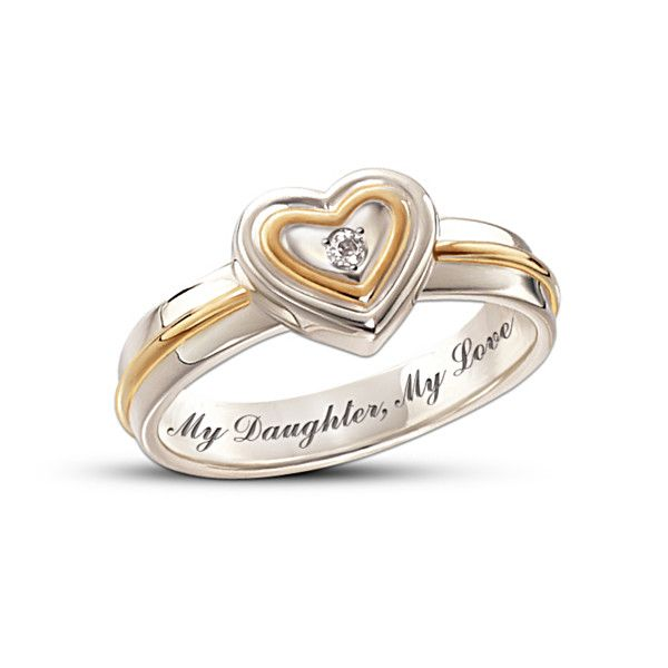 My Daughter My Love Diamond Ring Beautiful Idea For A Purity