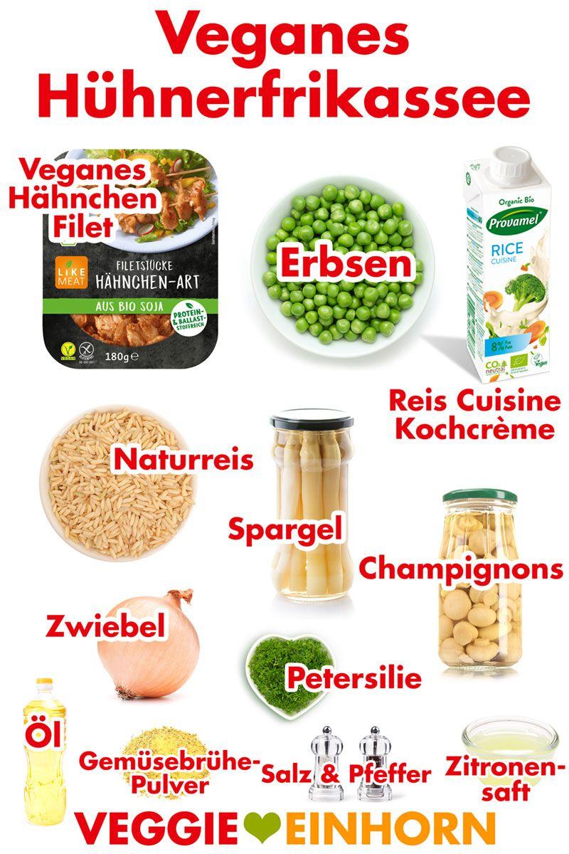 Veganes Hühnerfrikassee