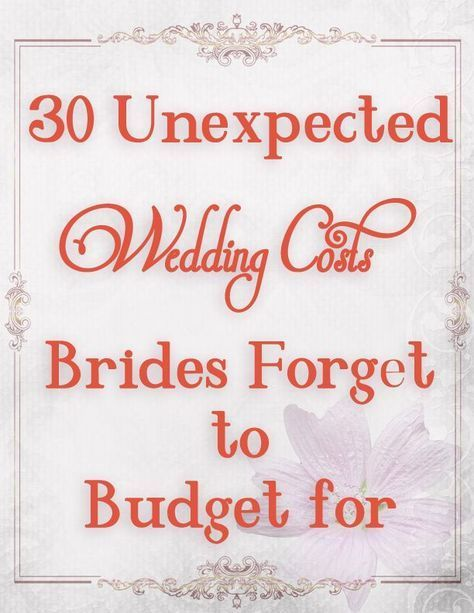 Wedding budget ideas--don\u0027t forget these when planning your wedding