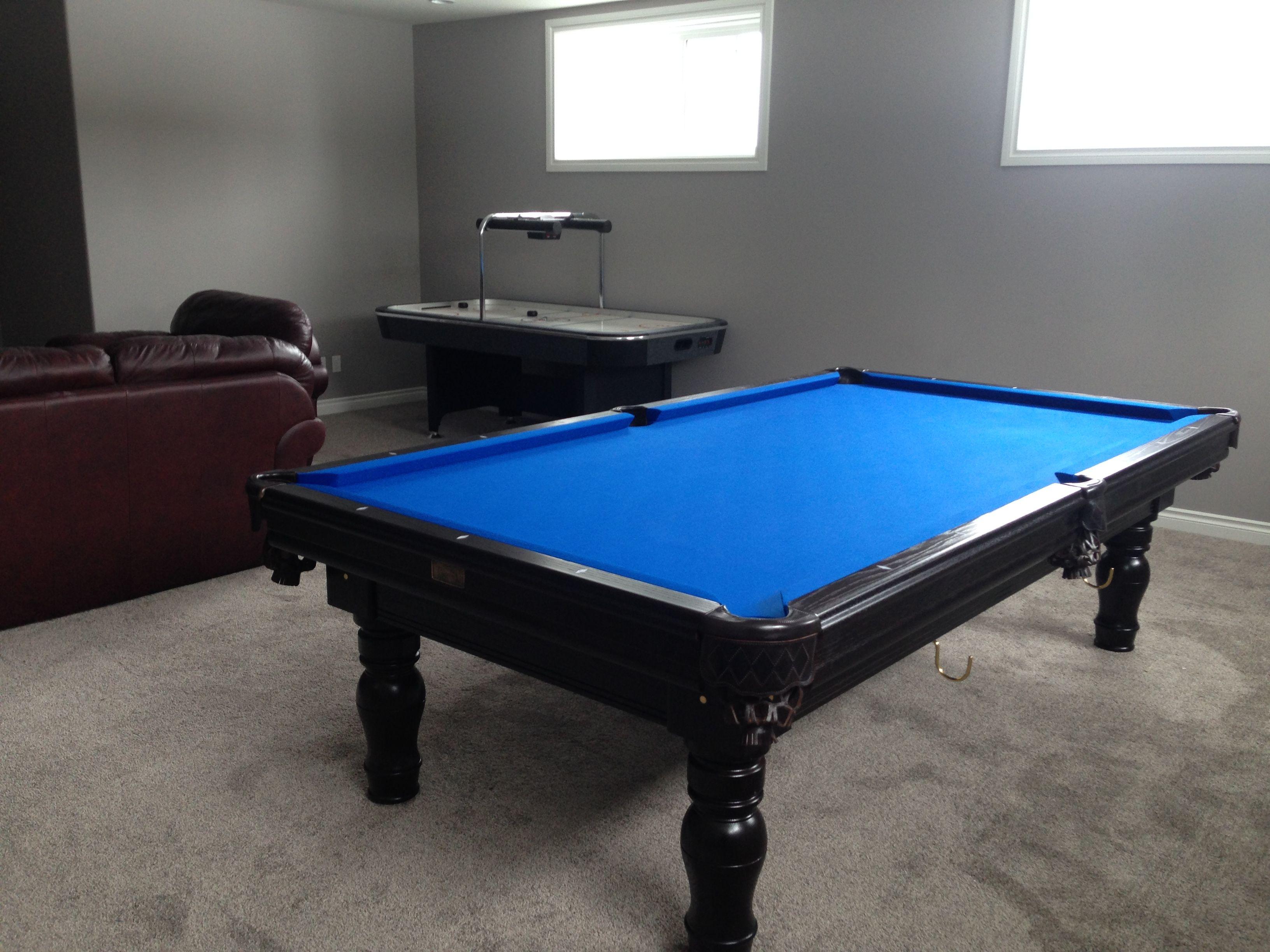 Superb Blue Pool Table #29 - Canada Billiard Prestige In Dark Walnut With Royal Blue Simonis