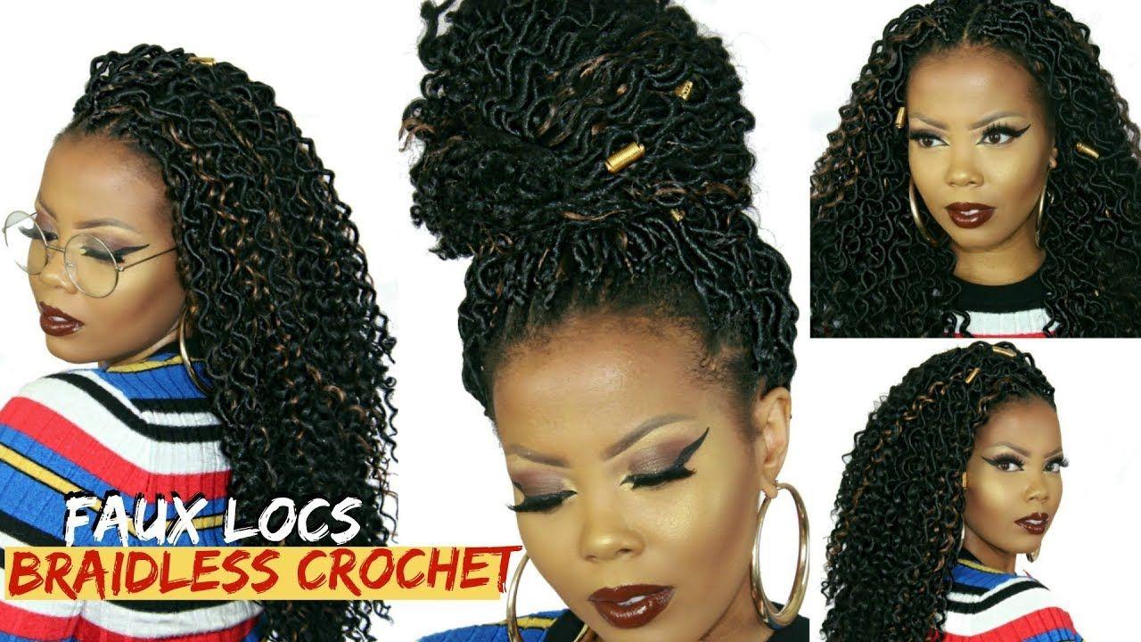 No Cornrows No Braids Braidless Crochet Faux Locs Tutorial 1 5