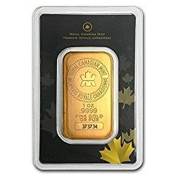 1 Oz Rcm 9999 Gold Bar Royal Canadian Mint In Assay Gold Bullion Bars Gold Bars For Sale Buy Gold And Silver
