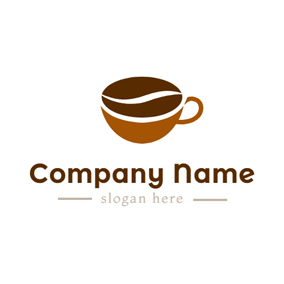Coffee Shop Word Text Logo With Coffee Cup Symbol Idea