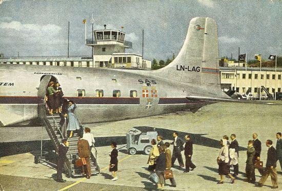 Famgus Aviation Postcards Sas Scandinavian Airlines System Scandinavian Airlines System Sas Airlines