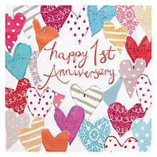 Shop For Anniversary John Lewis 1st Anniversary Cards Happy Anniversary Cards 1st Wedding Anniversary Wishes