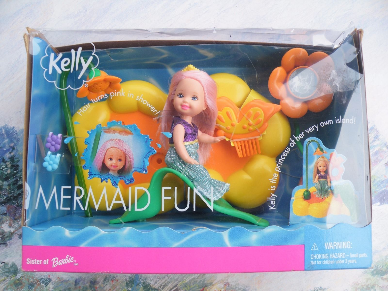 Find great deals on ebay for barbie hair extensions doll barbie light - Deal Funny Summertime Magic Pink Hair Kelly Club Doll Mermaid Fun Barbie 2001