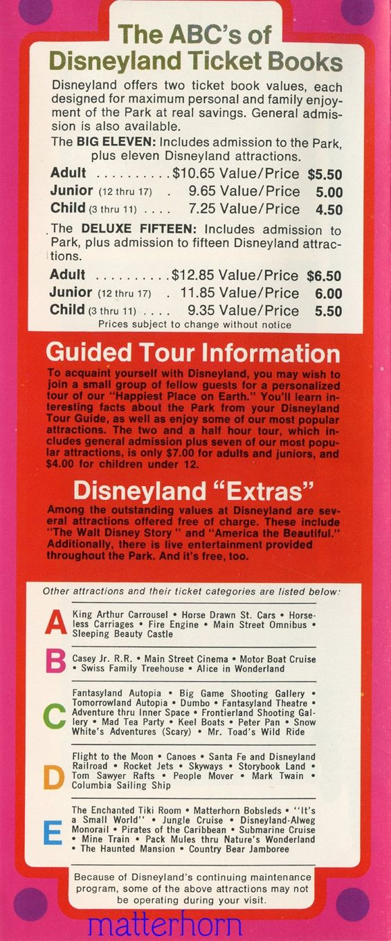 disneyland ticket book guide | Disneyland Then and Now | Pinterest ...