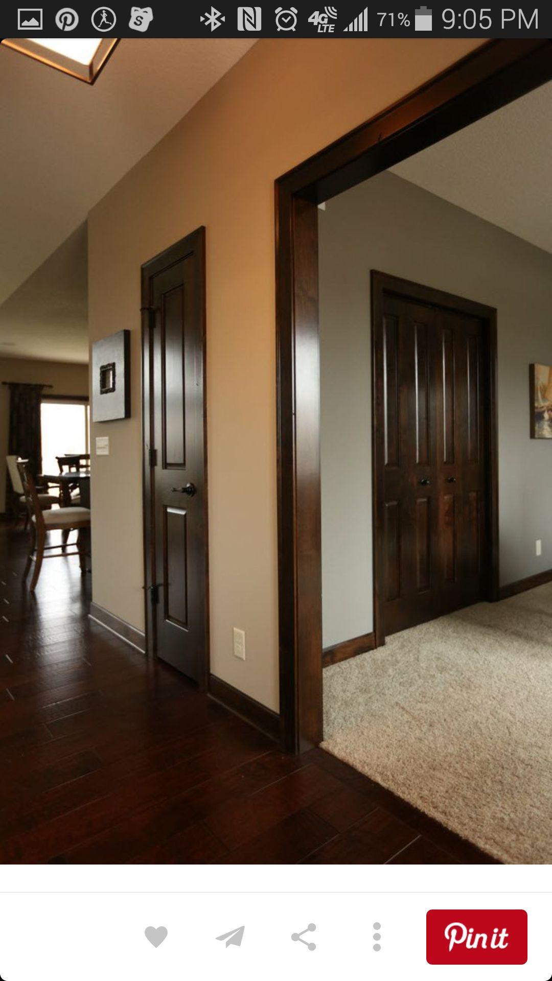 Dark trim and dark floors