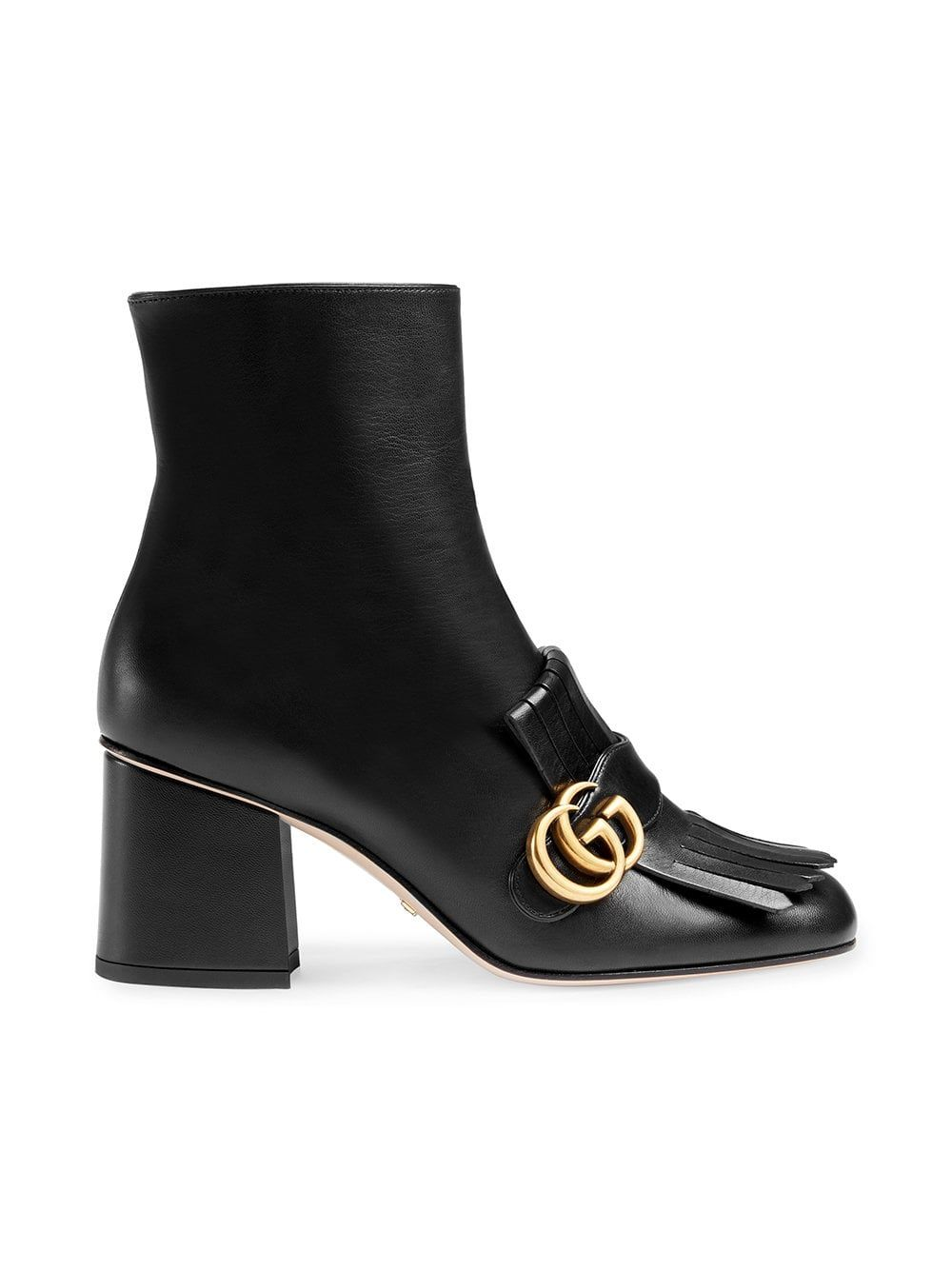 fe1029c3d Gucci Black Marmont 70 Leather Ankle Boots in 2019 | Luxury Leather ...