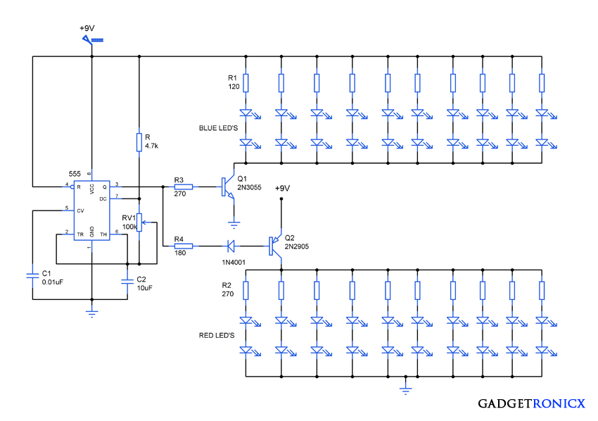Attractive Led Lighting Circuit Diagram Gadgetronicx Circuit Diagram Schematic Design Circuit