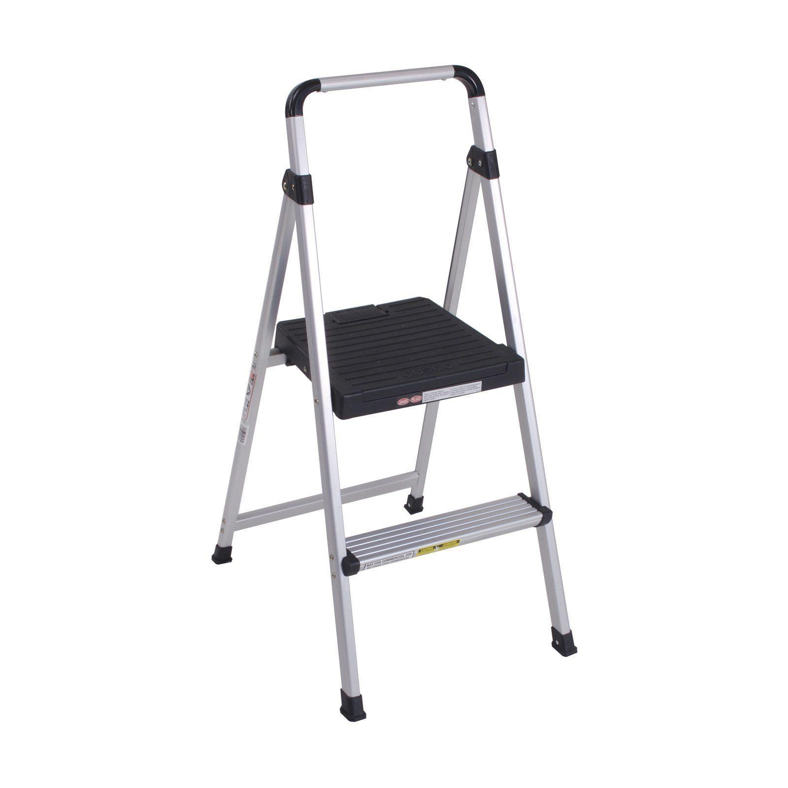 Cosco 2 Step Lite Solutions Folding Step Stool 11628abk1 Folding Step Stool Step Stool Step Ladders