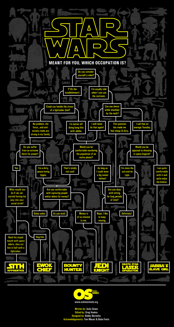 Meant For You Which Occupation Is Star Wars Occupation Flow Chart Star Wars Star Wars Universe Star Wars Geek