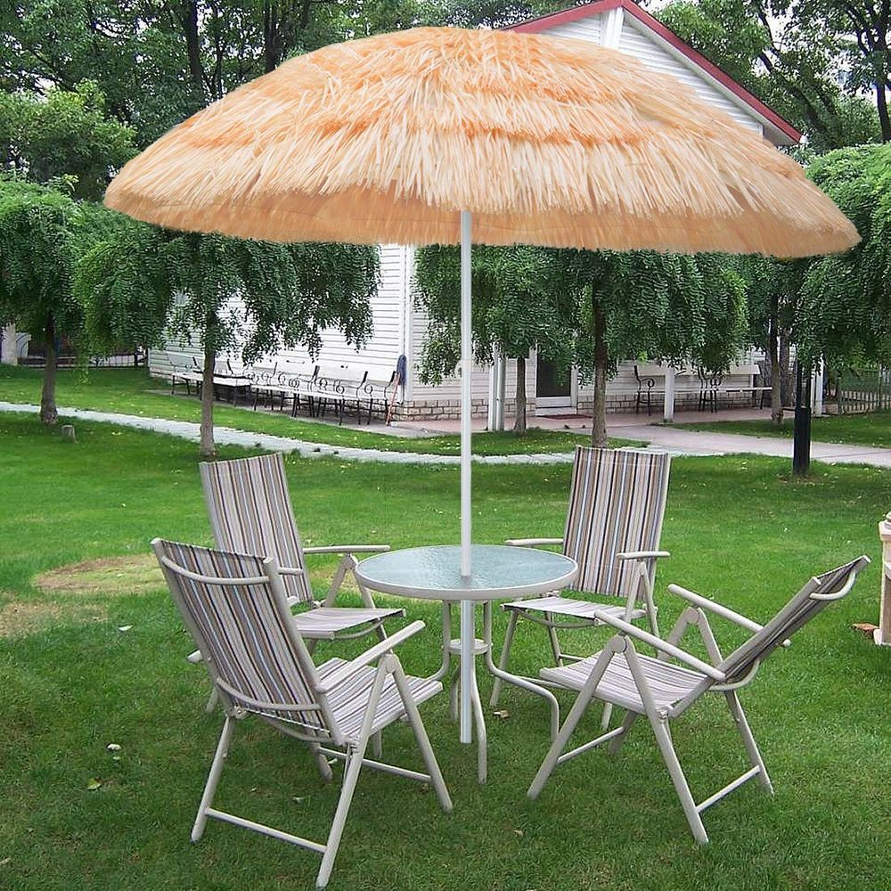 180cm Beachkit Outdoor Beach Umbrella RAINBOW Adjustable Height with ...