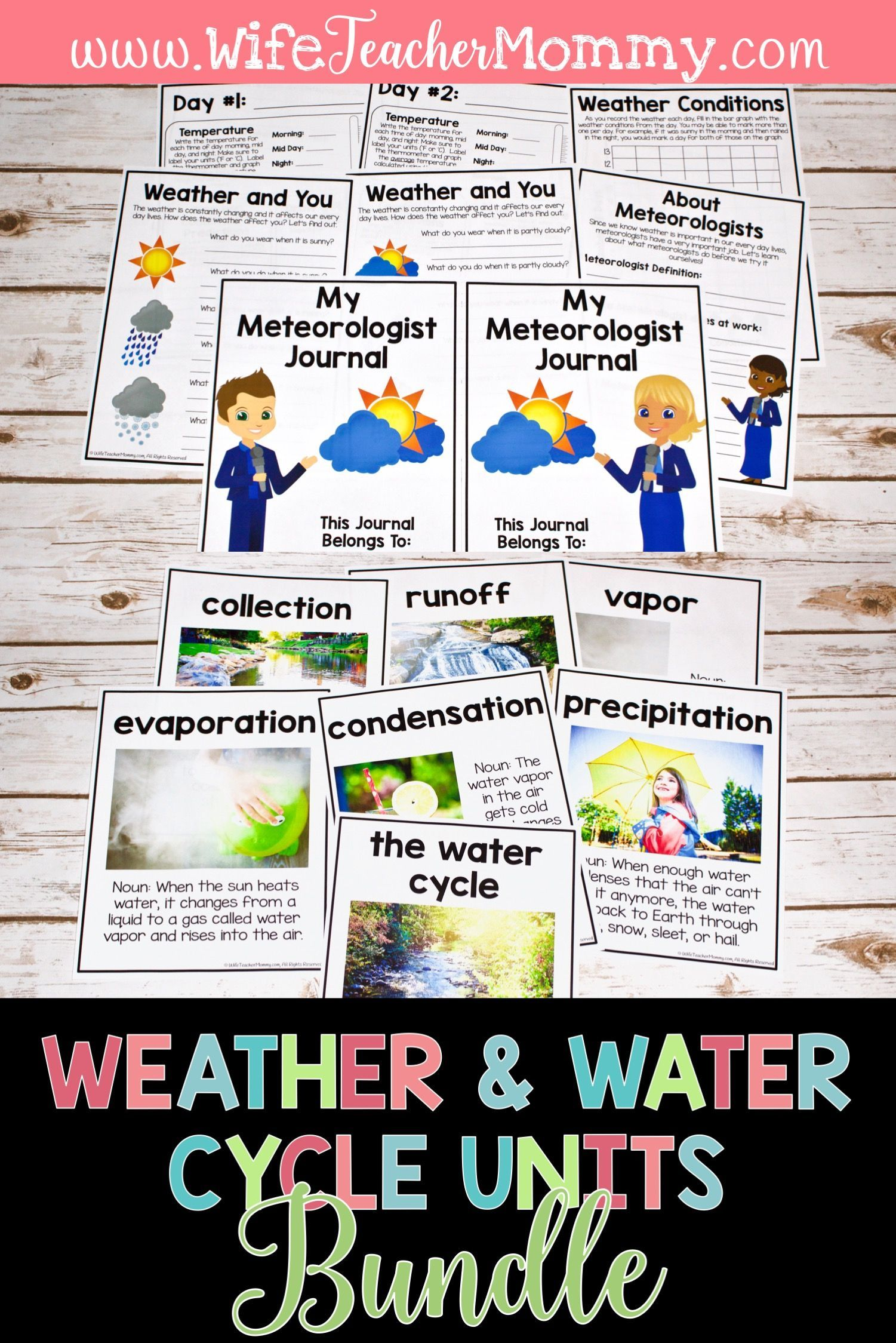 Weather Kids And Water Cycle Units Bundle