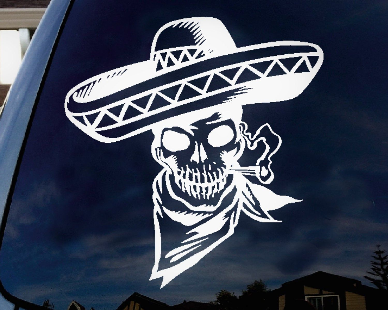 Mexican Decal Skeleton Decal Vinyl Sticker Funny Decal Car Truck Laptop Tumbler Yeti Wall Window Decor By Art Mexican Skeleton Skeleton Decals Skulls Drawing [ jpg ]