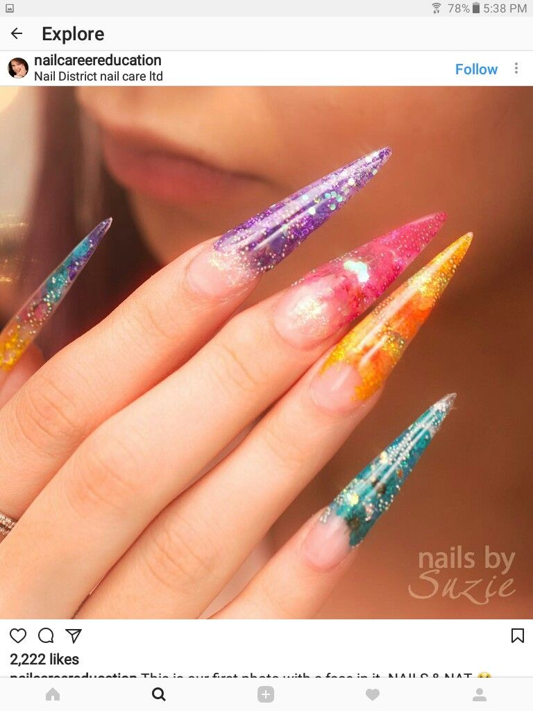Pin by Annette Hayes on stiletto nails | Pinterest | Stiletto nail ...