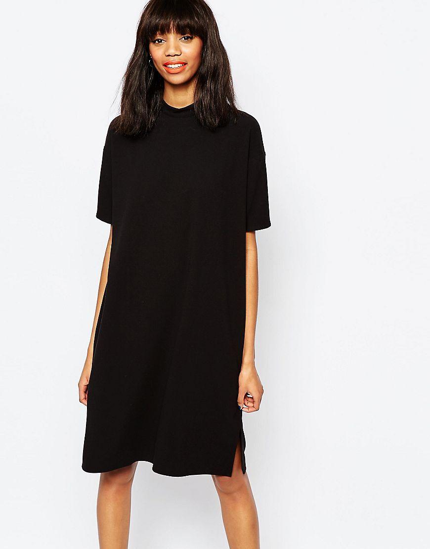 4eedccc650f15 Image 1 of Monki High Neck Shift Dress   WISH LIST   Dresses ...