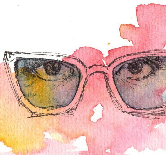 I Spy - Watercolor & Illustration Print. $17.00, via Etsy.