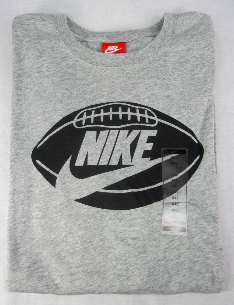 32682b143dd6 Nike Football Gray Black Rayon Blend Graphic T Shirt Men s Size 2XL NWT  35   Nike  GraphicTee