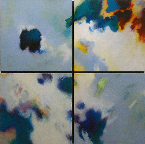 Ohne Titel 2007, Acryl auf Leinwand/Holz, 80 x 80 cm (2-teilig)