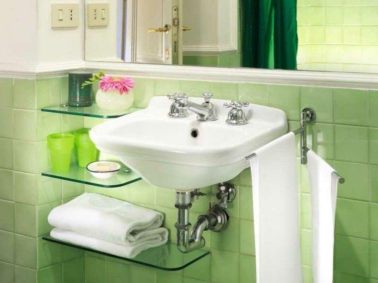 Azulejos estilo retro color verde ba o pinterest - Modelos de cuarto de bano ...