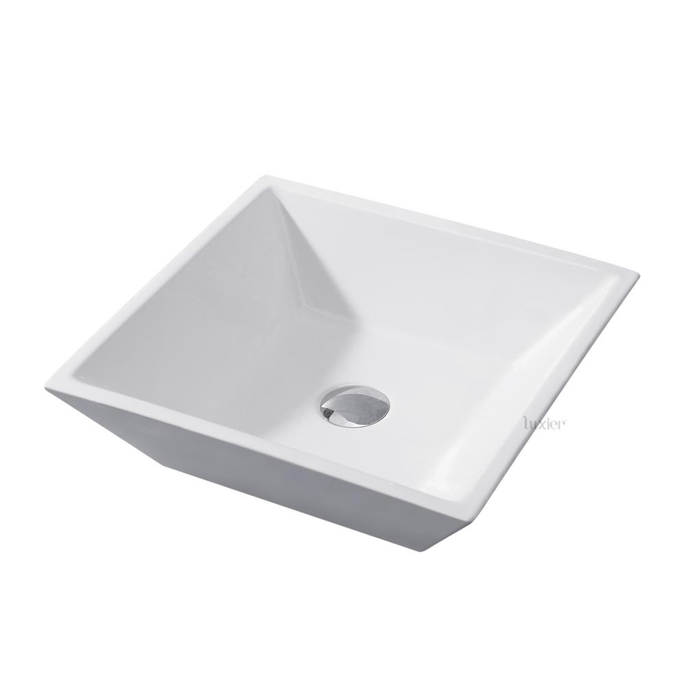 luxier bathroom porcelain ceramic vessel vanity sink art basin in rh pinterest com