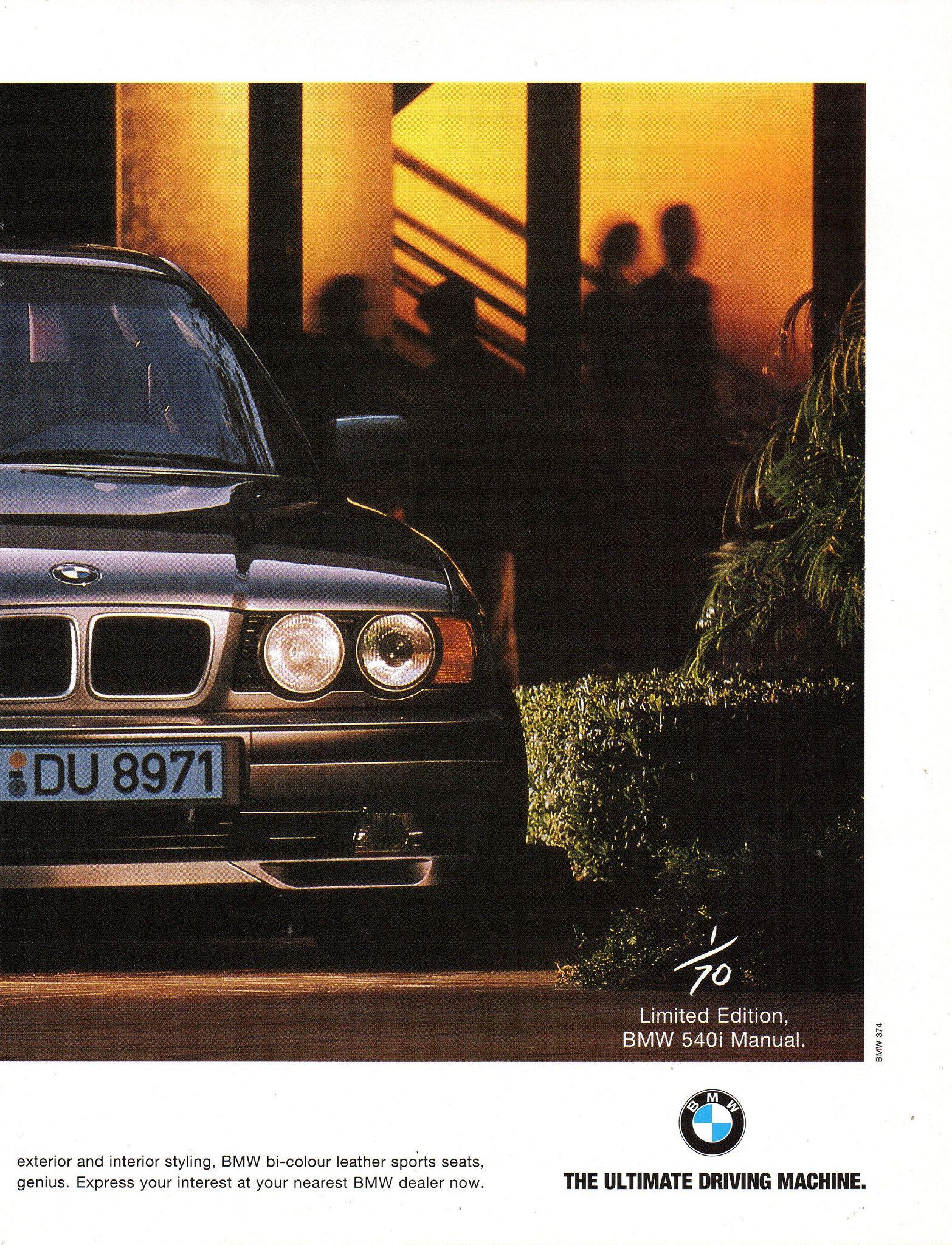 1995 Bmw 540i Manual Sedan Limited Edition Page 2 Aussie Original Magazine Advertisement Bmw Vintage Bmw E34 Bmw Motors