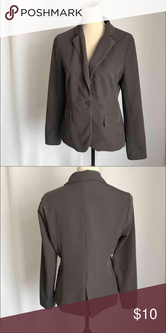 Forever21 gray Blazer jacket career sz L Long sleeve gray Blazer Forever 21 Jackets & Coats Blazers