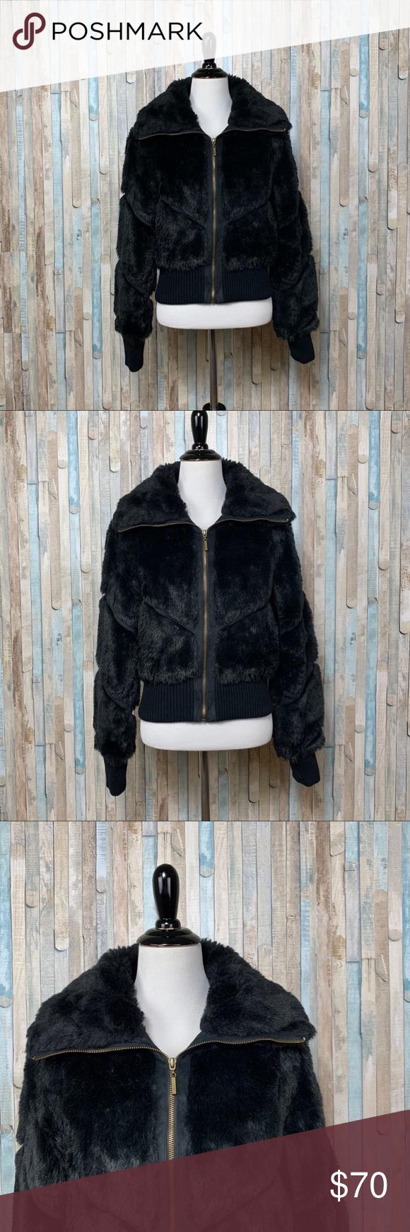 Zara M Black Faux Fur Cropped Bomber Jacket Coat Faux Fur Cropped Jacket Cropped Bomber Jacket Black Faux Fur [ 1740 x 580 Pixel ]