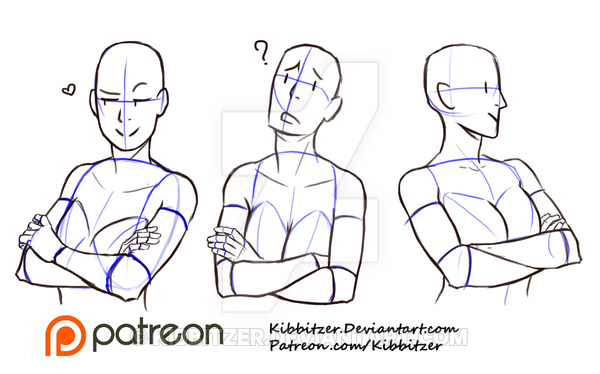 Crossed Arms Reference Sheet 2 By Kibbitzer On Deviantart Drawing Reference Art Reference Poses Arm Drawing