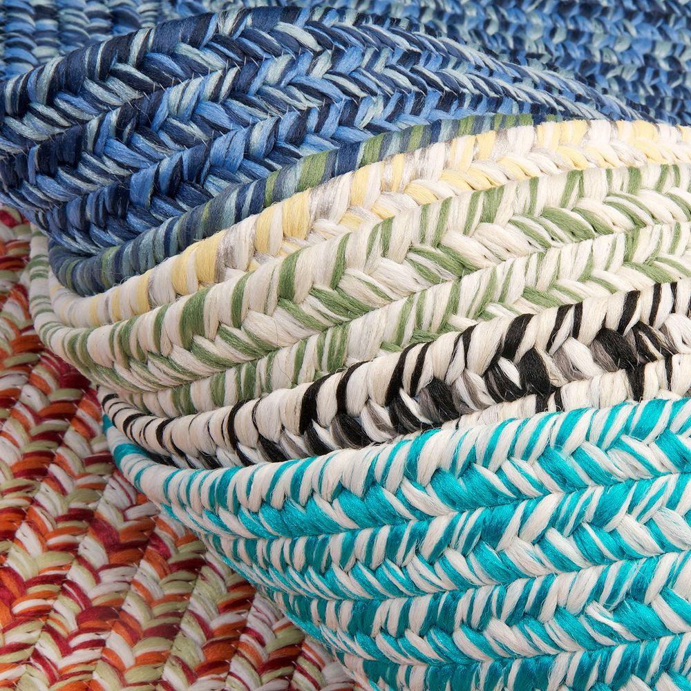 'Ocean's Edge' Multicolored Flat Braided Rug (4' x 6') | Overstock.com