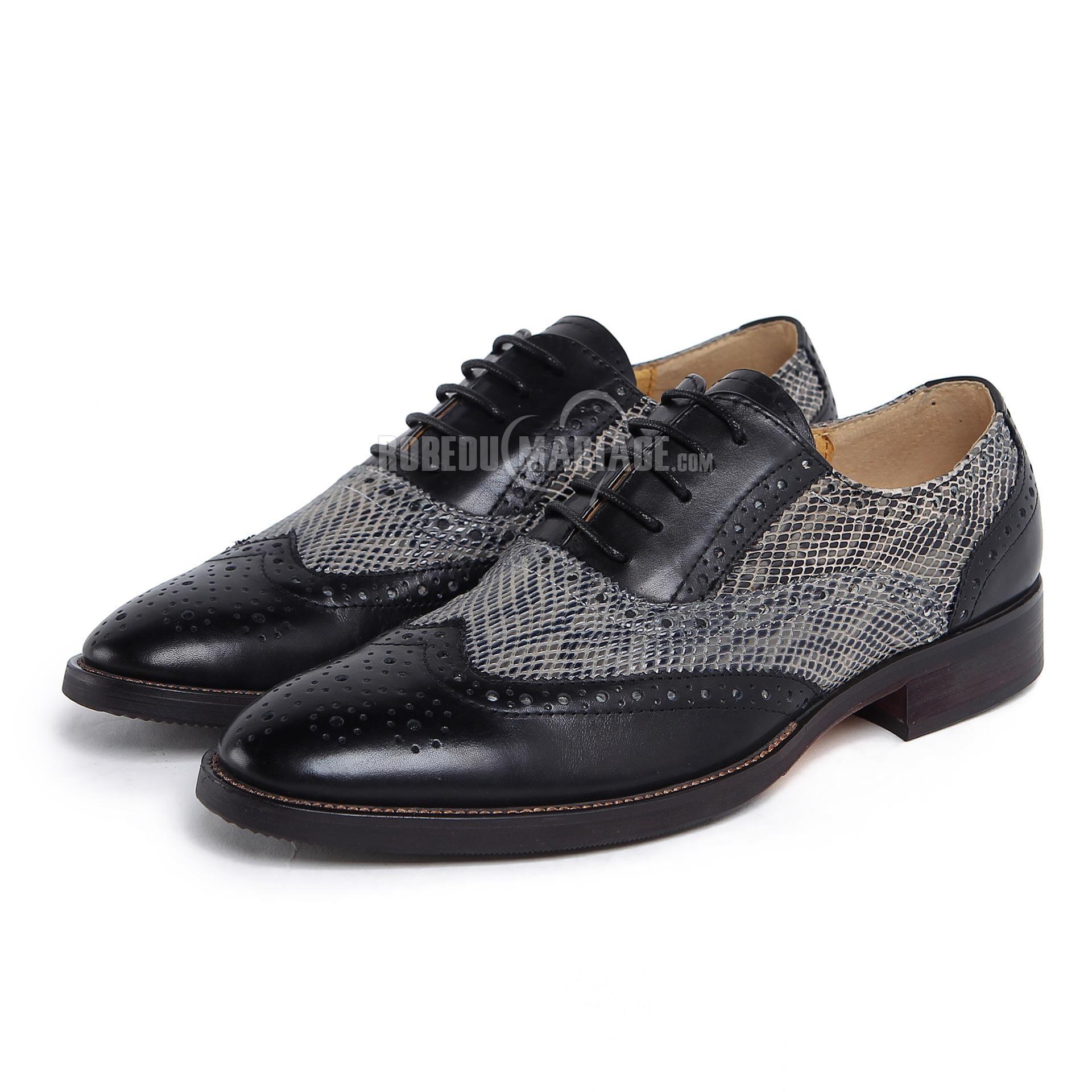 prix le plus bas 53fae f84d8 Chunky talon chaussures homme pas cher en ciur [#ROBE209157 ...