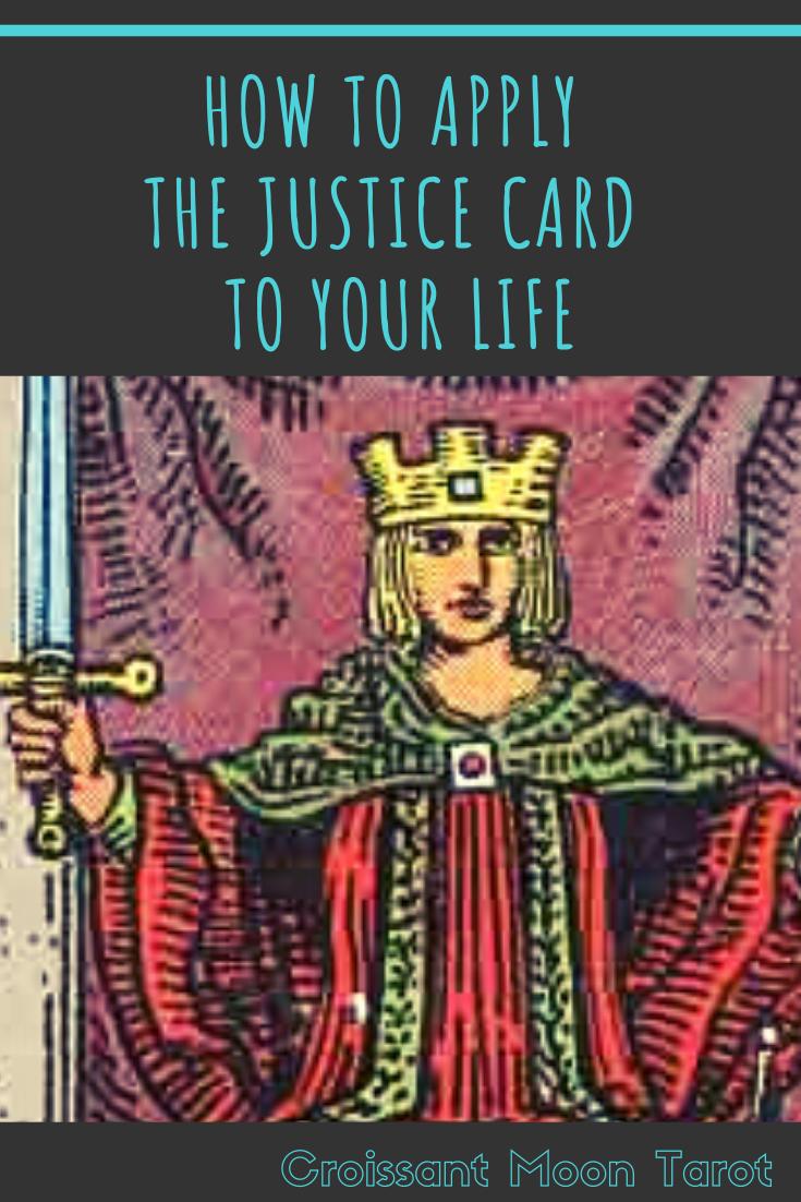 How To Apply The Justice Card To Your Life Major Arcana Justice Tarot Tarot