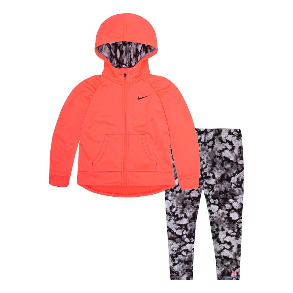 02c3c7bbd420 Toddler Girl Nike Therma-FIT Hoodie   Splatter Leggings Set in 2019 ...