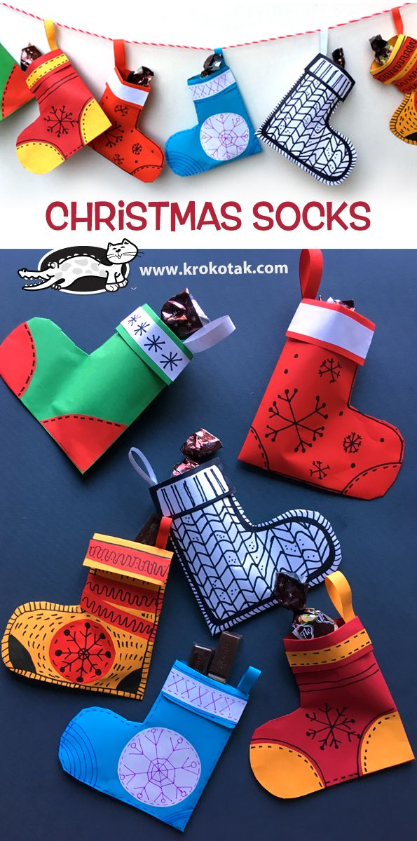krokotak | Christmas Socks | Christmas kids crafts | Pinterest ...