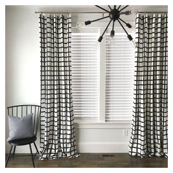 Windowpane Plaid Drapes Black And White Drapes Check Drapes