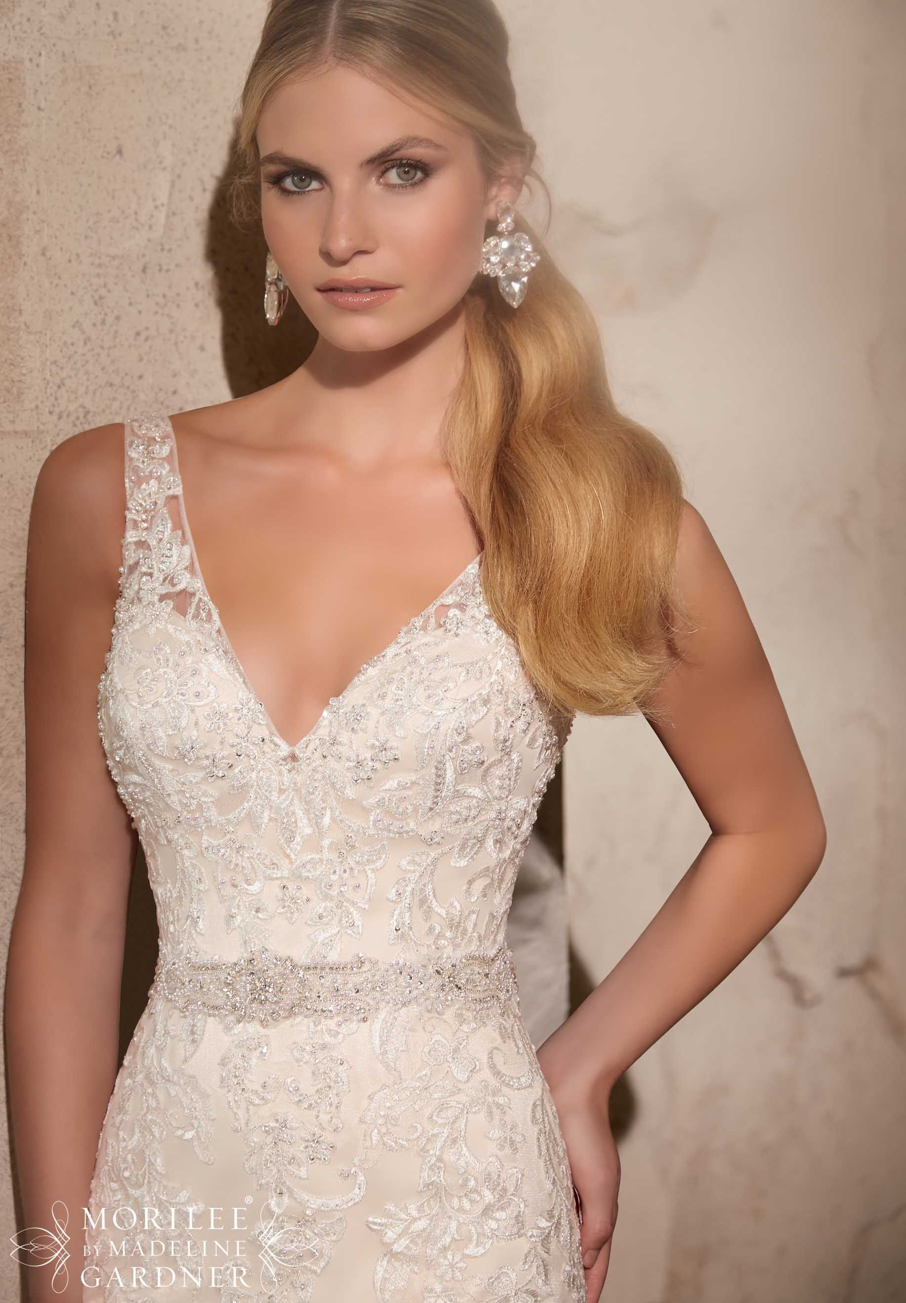 Bridal Gowns / Dresses Style 2715: Embroidered Appliques on Net with ...