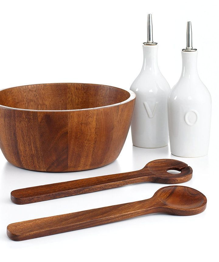 The Cellar Acacia Wood Collection Created For Macy S Reviews Serveware Dining Macy S Acacia Wood Salad Bowls Serveware