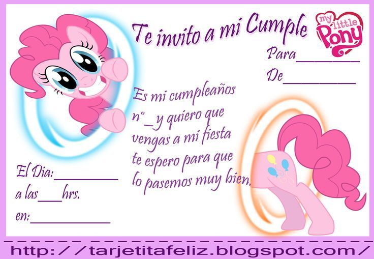Invitaciones My Little Pony Gratis Buscar Con Google