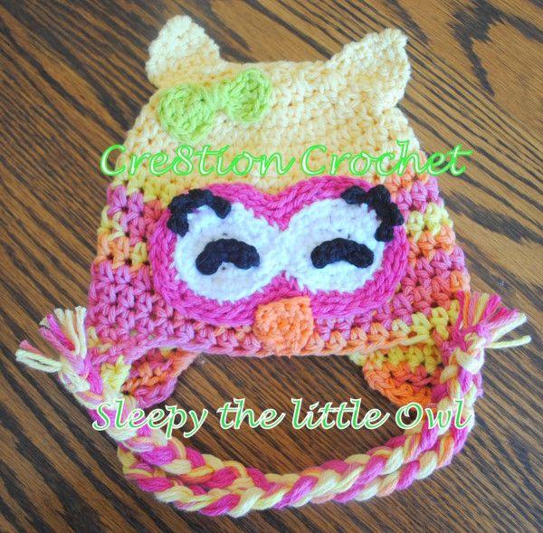 Free Crochet Owl Hat Pattern Sleepy the Little Owl | Pinterest