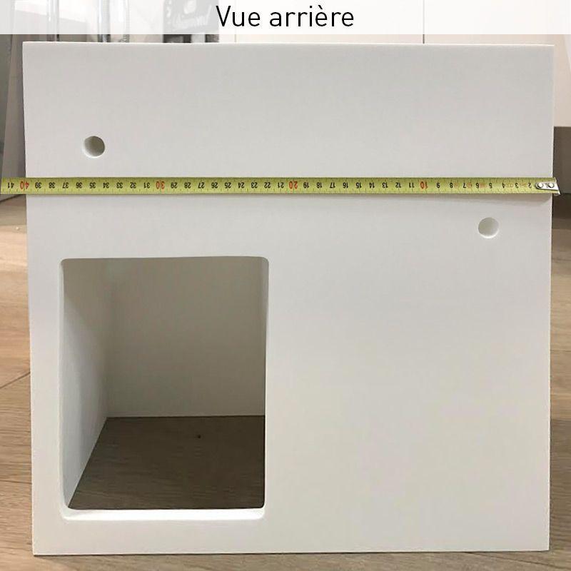 Lave Main Faible Profondeur 40x20x40 Cm Matiere Composite Droite Ou Gauche Mineral En 2020 Avec Images Lave Main Lave Lavabo Suspendu